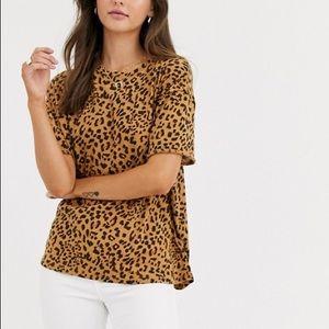 We The Free cheetah print tee